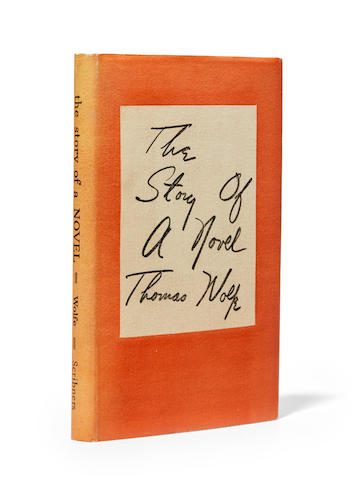 WOLFE, THOMAS. 1900-1938. The Story of a Novel. New York: Charles Scribner's Sons, 1936.