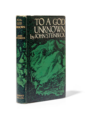 STEINBECK, JOHN. 1902-1968. To a God Unknown. New York: Robert O. Ballou, (1933).