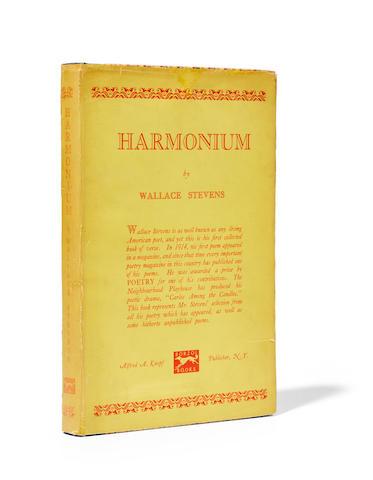 STEVENS, WALLACE. 1879-1955.  Harmonium.  New York: Alfred A. Knopf, 1923.