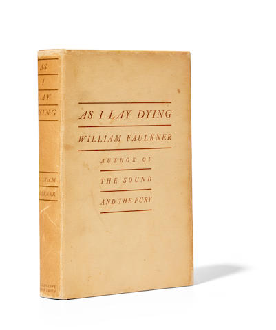 FAULKNER, WILLIAM. 1897-1962. As I Lay Dying. New York: Jonathan Cape & Harrison Smith, (1930).