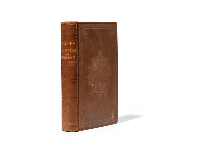 THOREAU, HENRY DAVID. 1817-1862. Walden; Or, Life in the Woods. Boston: Ticknor and Fields, 1854.