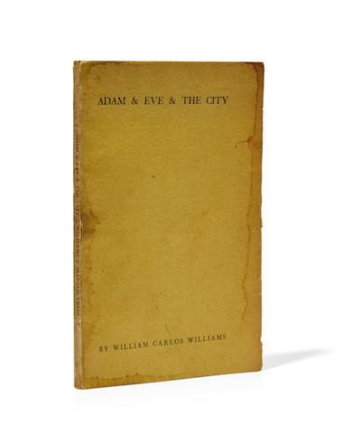 WILLIAMS, WILLIAM CARLOS. 1883-1963. Adam & Eve & the City. Peru VT: Alcestis Press, 1936.