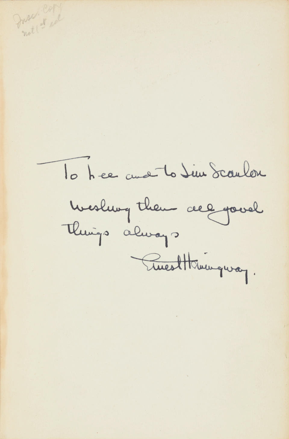 HEMINGWAY, ERNEST. 1899-1961. For Whom the Bell Tolls.  New York: Scribner's, 1945.