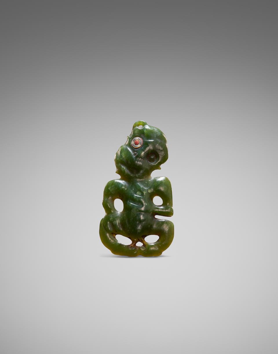 Exceptional and Rare Maori Anthropomorphic Pendant, New Zealand, ca. 1600-1700