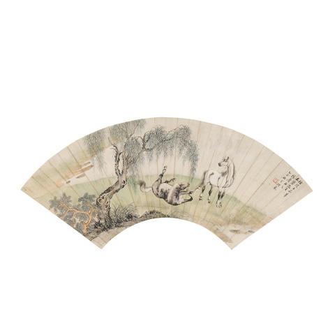 Ge Xianglan (1904-1964) Horses in Landscape, 1935