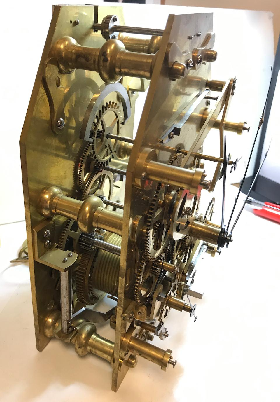 """A month going mahogany Graham-style regulator with equation of timeSigned on the backplate, """"Peter Lazarus / bürgls Gross Uhrmacher Meister / in Wien / verfertiget Anno 1806"""""""