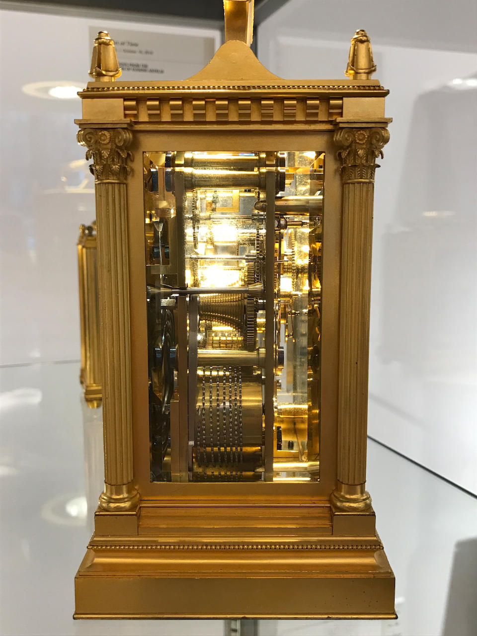 A very fine gilt hour striking and repeating carriage clock with seconds displaySigned B. Lawley, London, no. 1870 Mid 19th century
