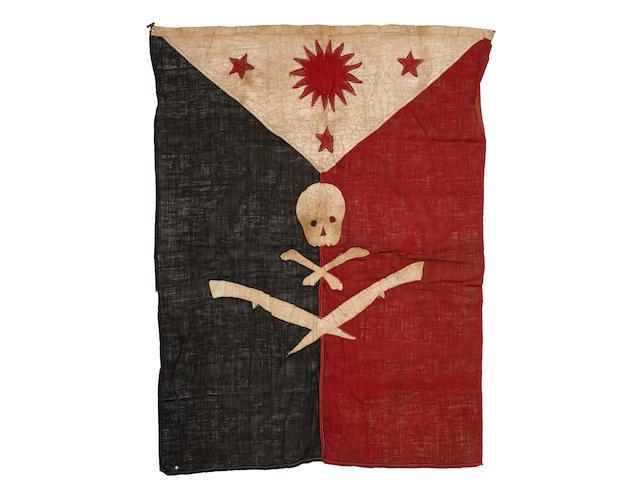 FILIPINO-AMERICAN WAR: GUERILLA FORCES FLAG. [Philippines; c. 1898-1902.]