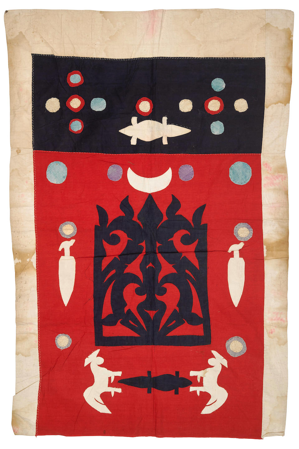 FILIPINO-AMERICAN WAR: TRIBAL BANNER. [Southern Philippines: 1890s.]