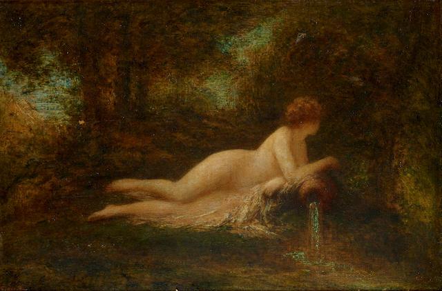 Henri Fantin-Latour (French, 1836-1904) La source dans le bois 13 5/8 x 20 1/8in (34.5 x 51cm)