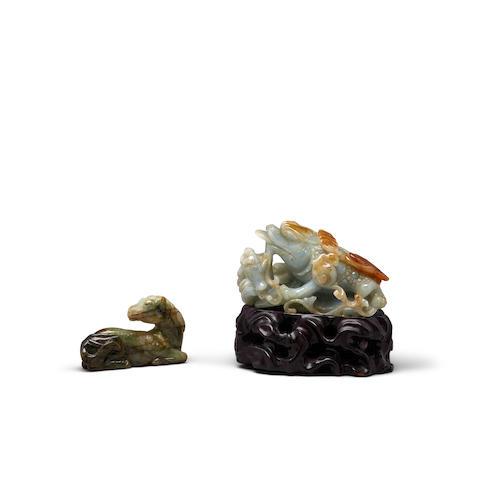 Two jadeite decorations