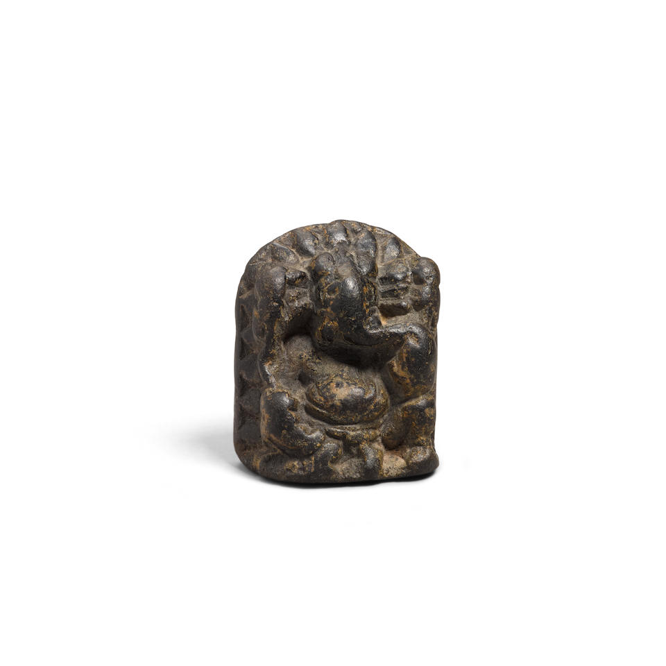 A small carved stone figure of Ganesha North India, possibly Kashmir, 10th/12th century