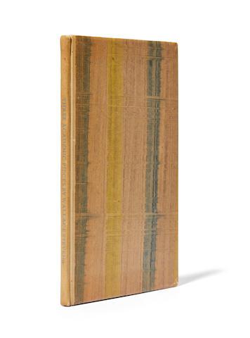 STEVENS, WALLACE. 1879-1955. Three Academic Pieces.  Cummington, Mass.: The Cummington Press, 1947.