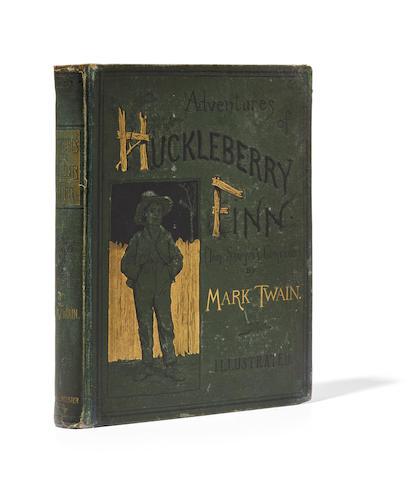 "CLEMENS, SAMUEL LANGHORNE (""MARK TWAIN""). 1835-1910. The Adventures of Huckleberry Finn. New York: Charles L. Webster and Co., 1885."