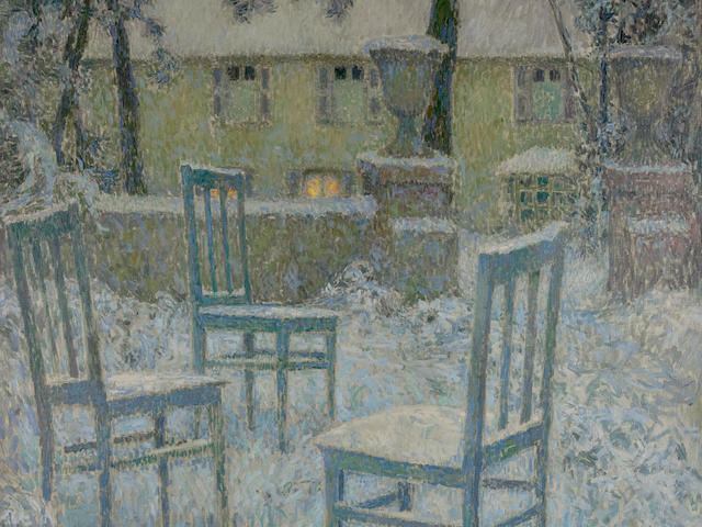 HENRI LE SIDANER (1862-1939) Neige 59 x 49 in (150 x 125 cm) (Painted in 1924)