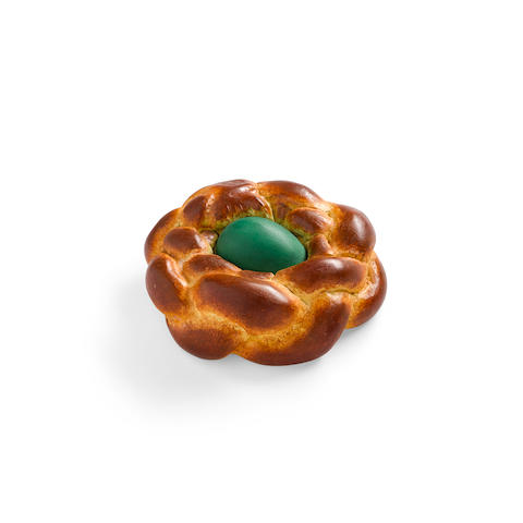 Jeff Koons (B. 1955) Bread with Egg (green), 1995 (This work is number 172 from the edition of 250 in three colors (each color an edition of 83) plus 75 APs, published by the Armitage Foundation, New York.)