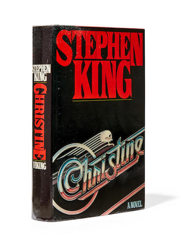 KING, STEPHEN. B.1947. Christine.  New York: The Viking Press, 1983.