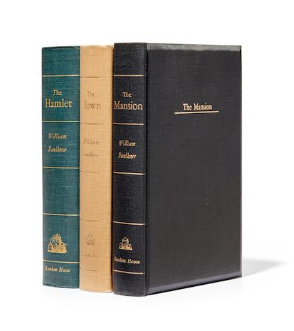 FAULKNER, WILLIAM. 1897-1962. [The Snopes Trilogy]: