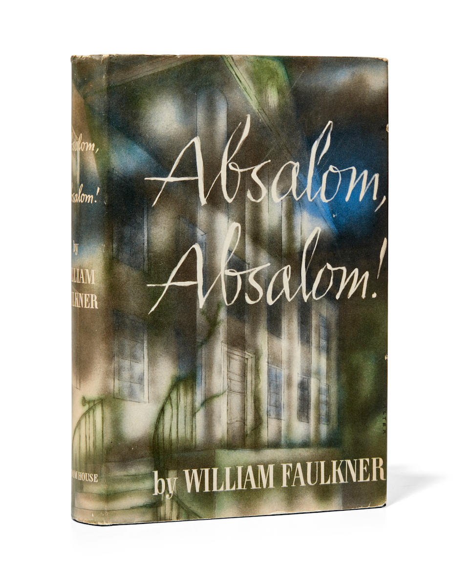 FAULKNER, WILLIAM. 1897-1962. Absalom! Absalom! New York: Random House, 1936.