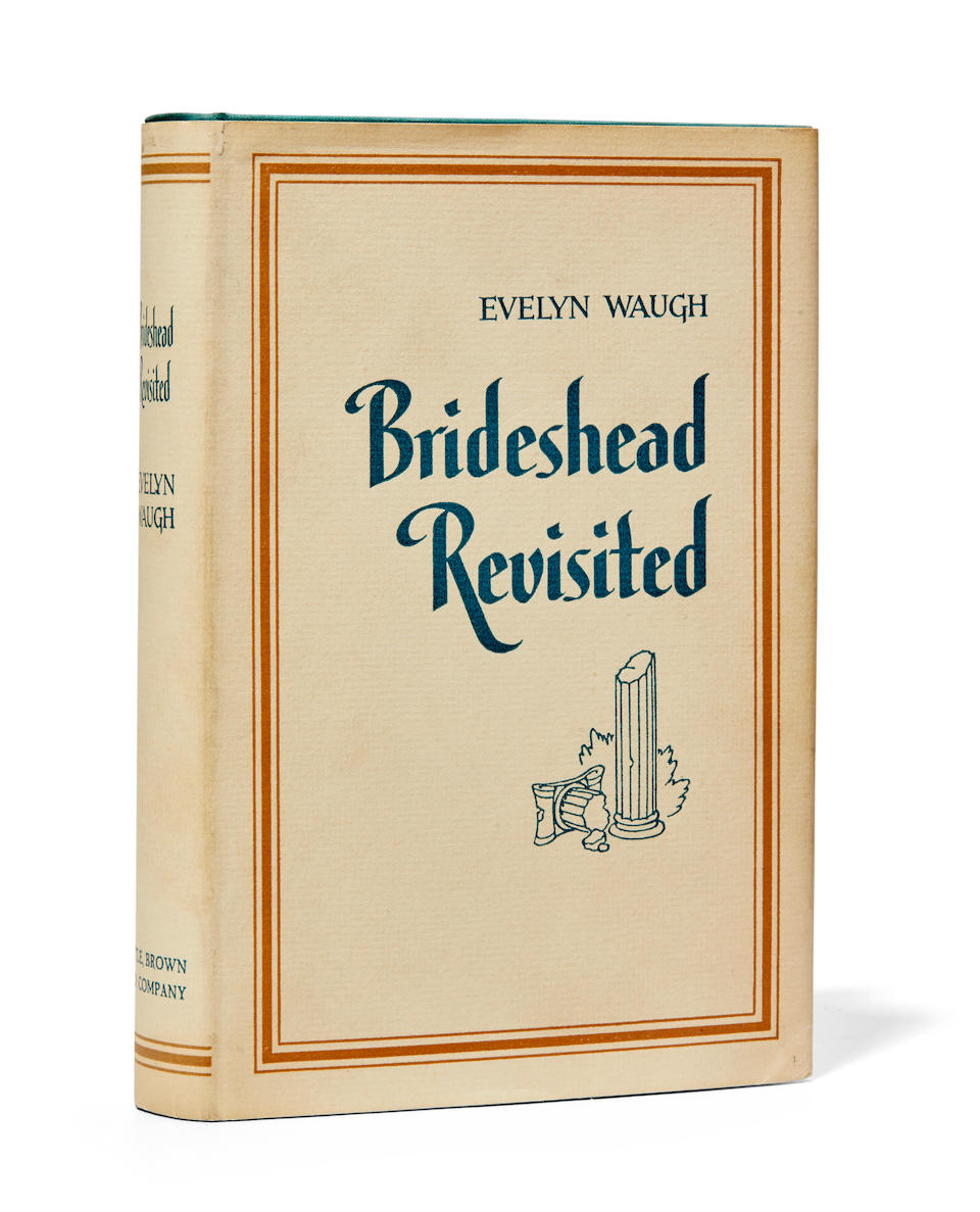 WAUGH, EVELYN. 1903-1966. Brideshead Revisited: The Sacred and Profane Memories of Captain Charles Ryder. Boston: Little, Brown and Company, 1945.