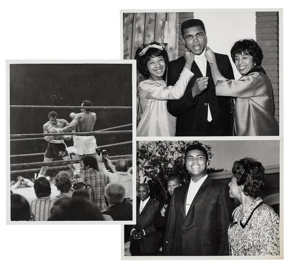 MUHAMMAD ALI. 1942-2016. Adams, Harry. 1918-1988, Press Photographer. [Muhammad Ali in Los Angeles.] Photographs dated on verso, June 24 1965 - September 1973.