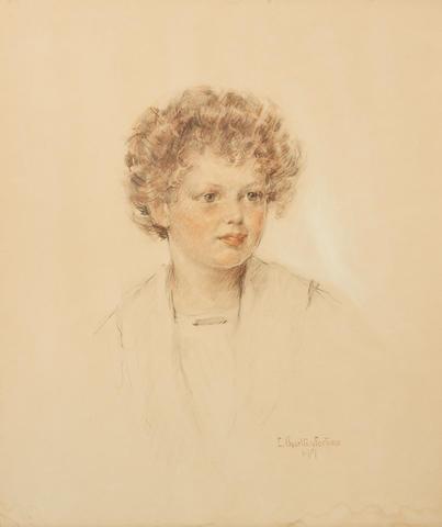 E. Charlton Fortune (1885-1969) Portrait of Orville C. Pratt IV 24 x 20 1/2in (Drawn in 1917.)