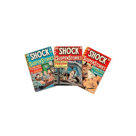 A JERRY GARCIA GROUP OF 13 SHOCK SUSPENSTORIES EC COMICS early 1950s