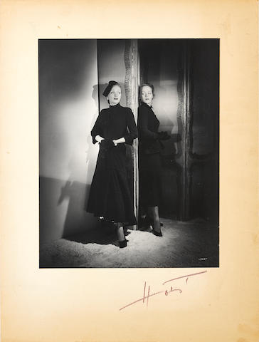 A Marlene Dietrich and daughter Maria portrait taken by Horst P. Horst