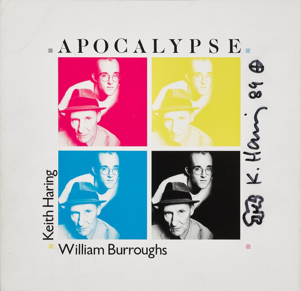 HARING, KEITH. 1958-1990. BURROUGHS, WILLIAM S. 1914-1997. Apocalypse. [Amsterdam, New York & Miami Beach: George Mulder Fine Art, 1988.]