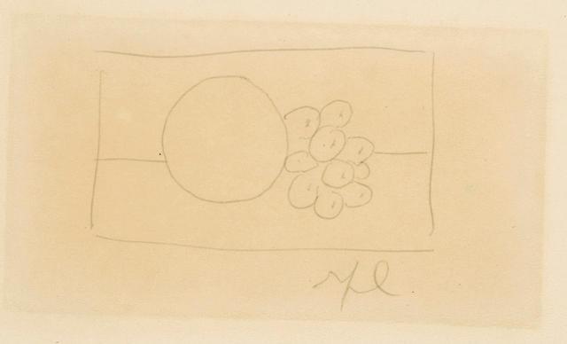Roy Lichtenstein (American, 1923-1997) Still Life, Grapefruit and Grapes, 1972