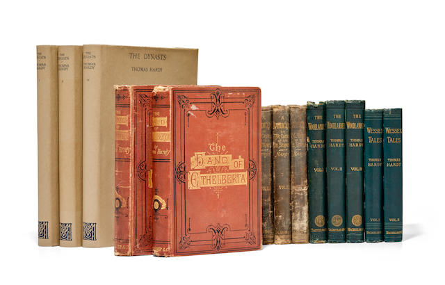 HARDY, THOMAS. 1840-1928.  5 works in 13 volumes.