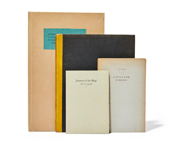ELIOT, THOMAS STEARNS. 1888-1965. Five limited edition works: