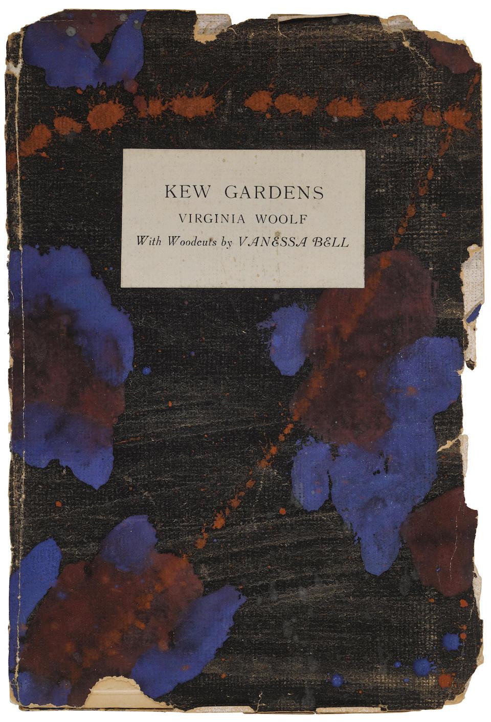 WOOLF, VIRGINIA. 1882-1941. Kew Gardens.  London: Hogarth Press, June 1919.