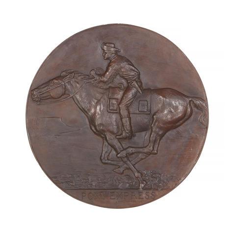Alexander Phimister Proctor (1862-1950) Pony Express  17in diameter