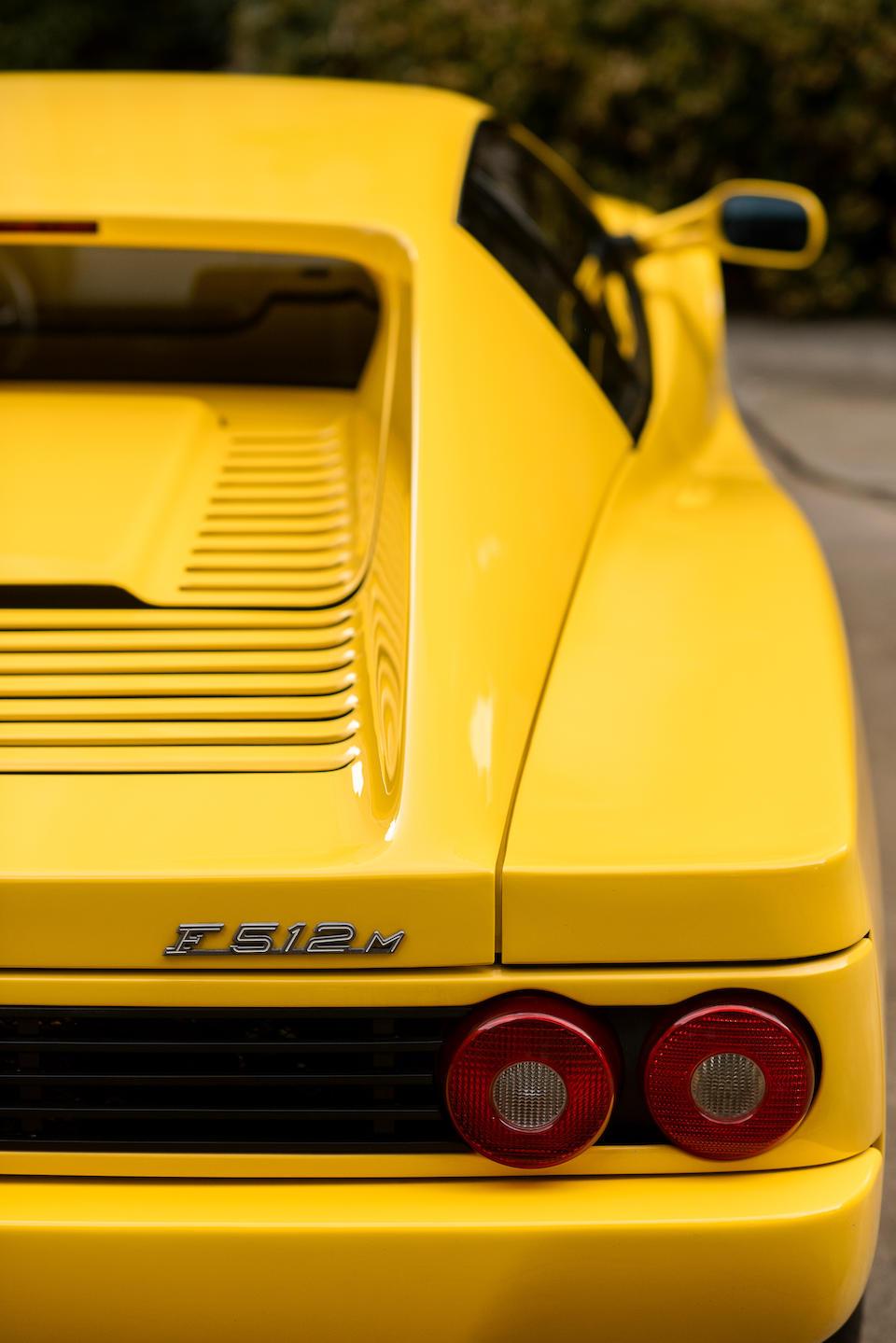 <b>1995 Ferrari F512 M</b>M<br />VIN. ZFFVG40A2S0100154<br />Engine no. 161524