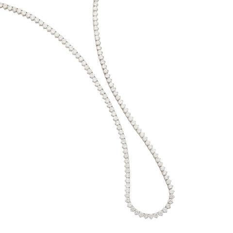 A diamond rivieré necklace