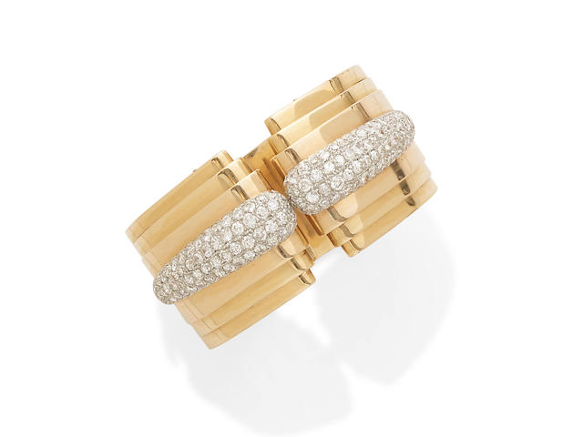 a hinged diamond cuff