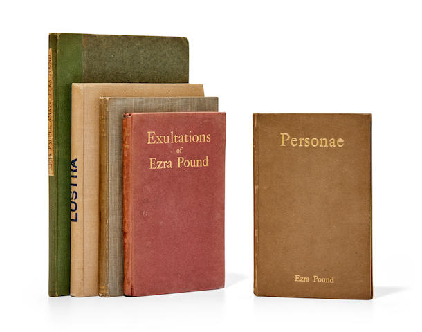 POUND, EZRA. 1885-1972. Five early works:
