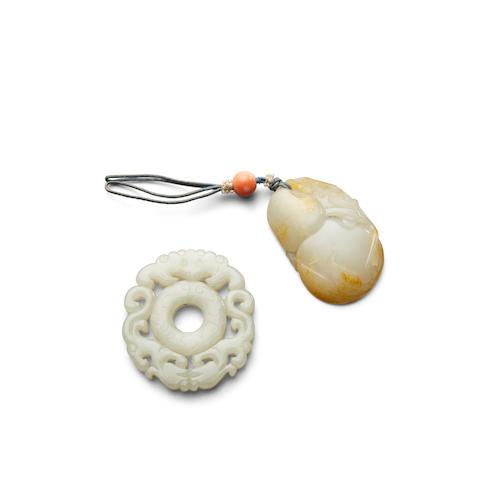 Two jade pendants (2)