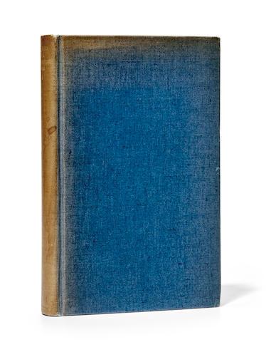 SASSOON, SIEGFRIED. 1886-1967. Memoirs of a Foxhunting Man. London: Faber & Gwyer Ltd., 1928.