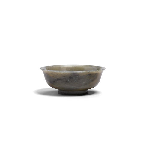 A carved jade footed bowl Qianlong mark, 18th/19th century