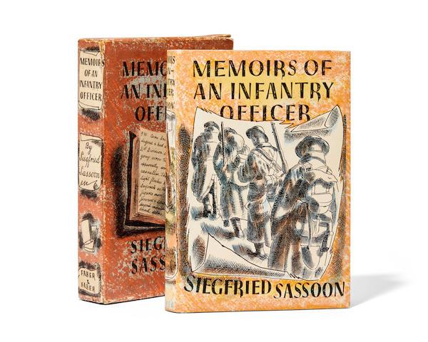SASSOON, SIEGFRIED. 1886-1967. FREEDMAN, BARNETT. Illustrator. Memoirs of an Infantry Officer. London: Faber and Faber Limited, (1931).