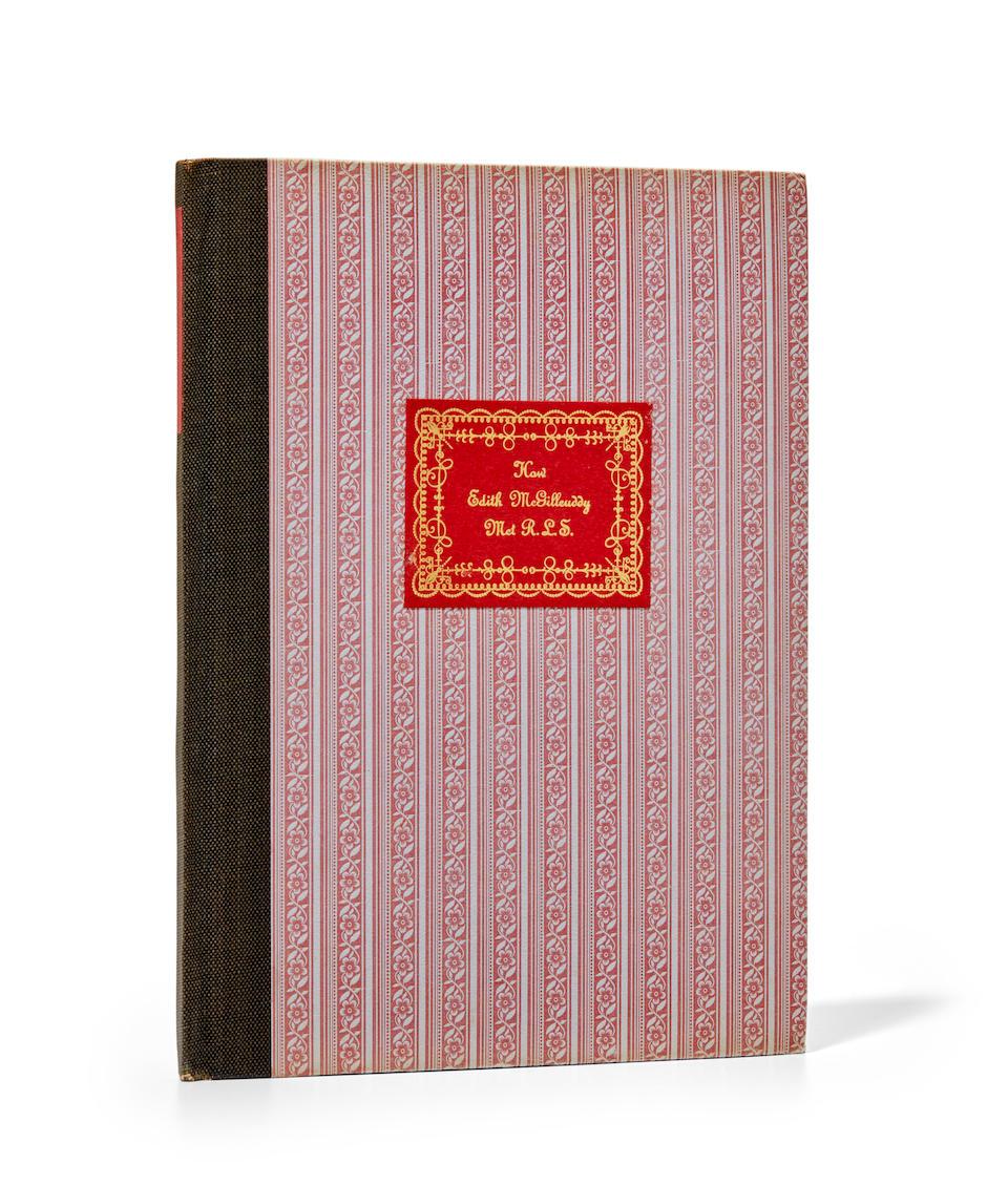 STEINBECK, JOHN. 1902-1968. How Edith McGillcuddy Met RLS. Cleveland: The Rowfant Club [Printed at the Grabhorn Press], 1942.