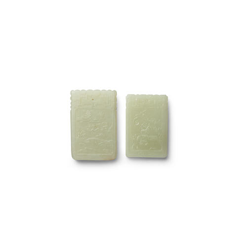 Two jade plaques (2)
