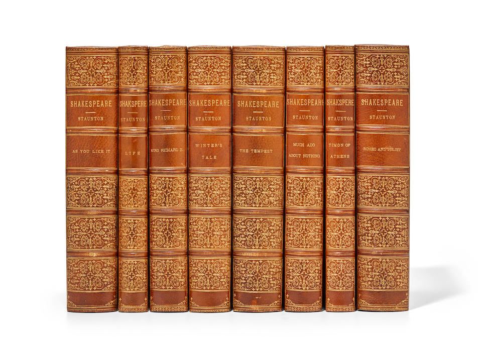 SHAKESPEARE, WILLIAM. 1564-1616. The Works. Edited by Howard Staunton. London: George Routledge & Sons, 1881-1882.