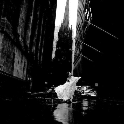 "Jerry Schatzberg (born 1927); Betsy Pickering on Wall Street, New York, for American ""Vogue"";"