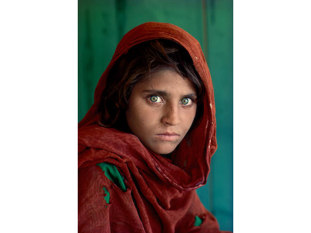 Steve McCurry (born 1950); The Afghan Girl, Sharbat Gula, Pakistan;
