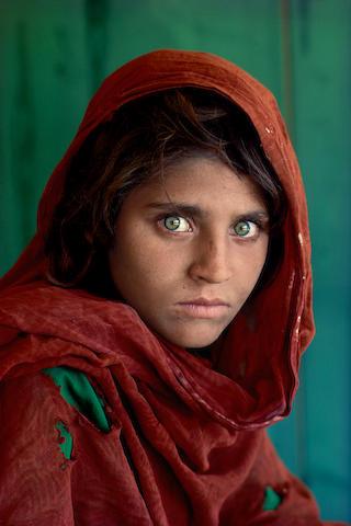 Steve McCurry (born 1950); The Afghan Girl, Sharbat Gula, Pakistan;