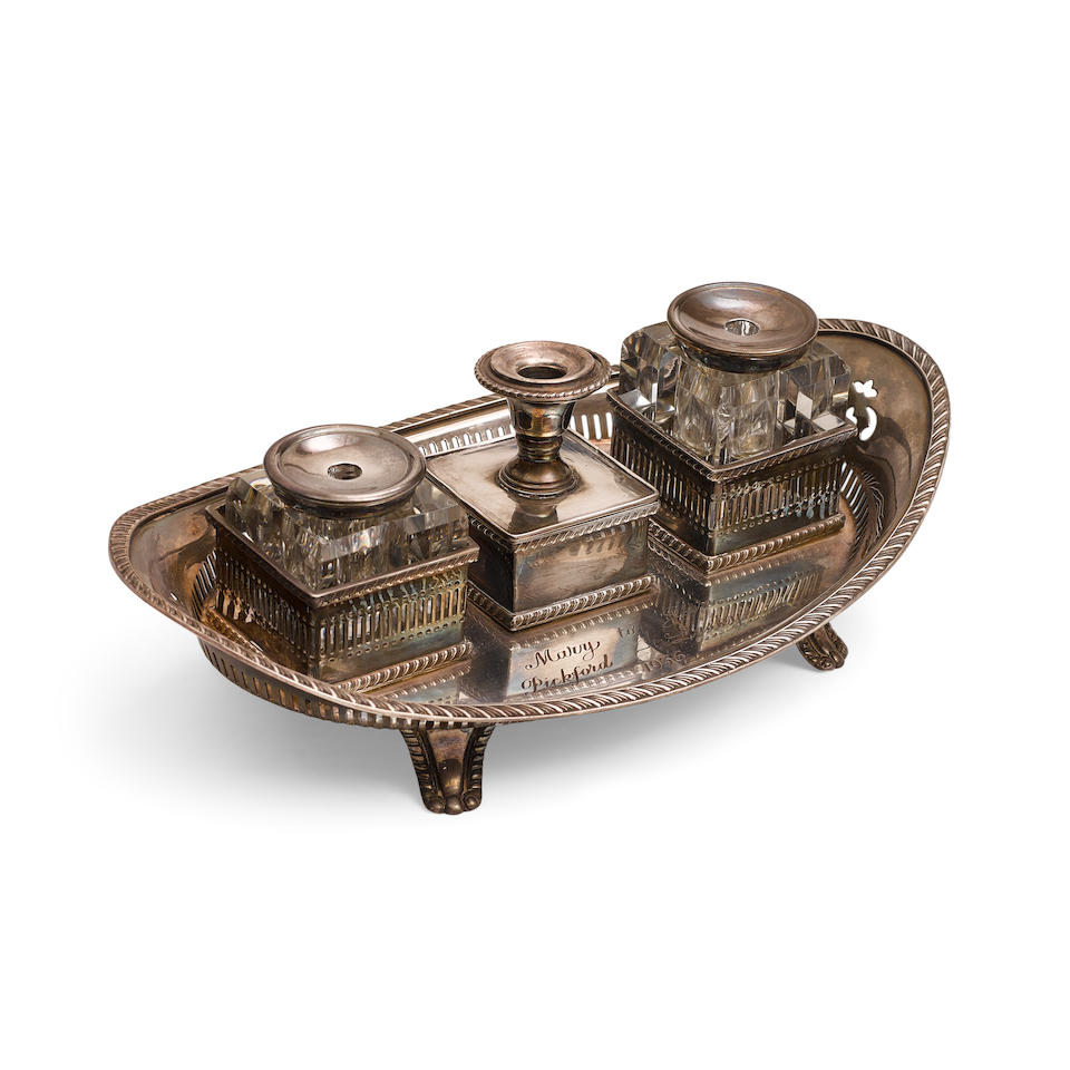 A Jesse Lasky engraved inkwell gifted to him by Mary Pickford