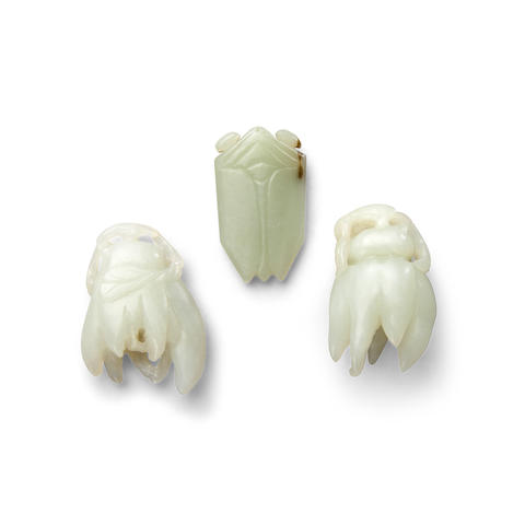 Three jade carvings  (3)